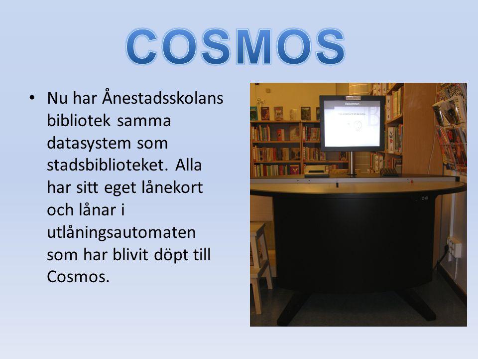 • Nu har Ånestadsskolans bibliotek samma datasystem som stadsbiblioteket.