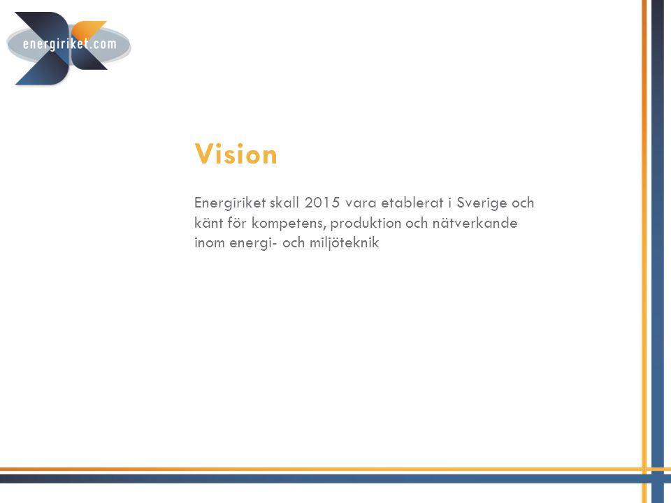 Målet • Öka nyetablering av företag i Finspång • Stärka befintliga företag genom samverkan och tillgänglig kompetens • Etablera varumärket Energiriket