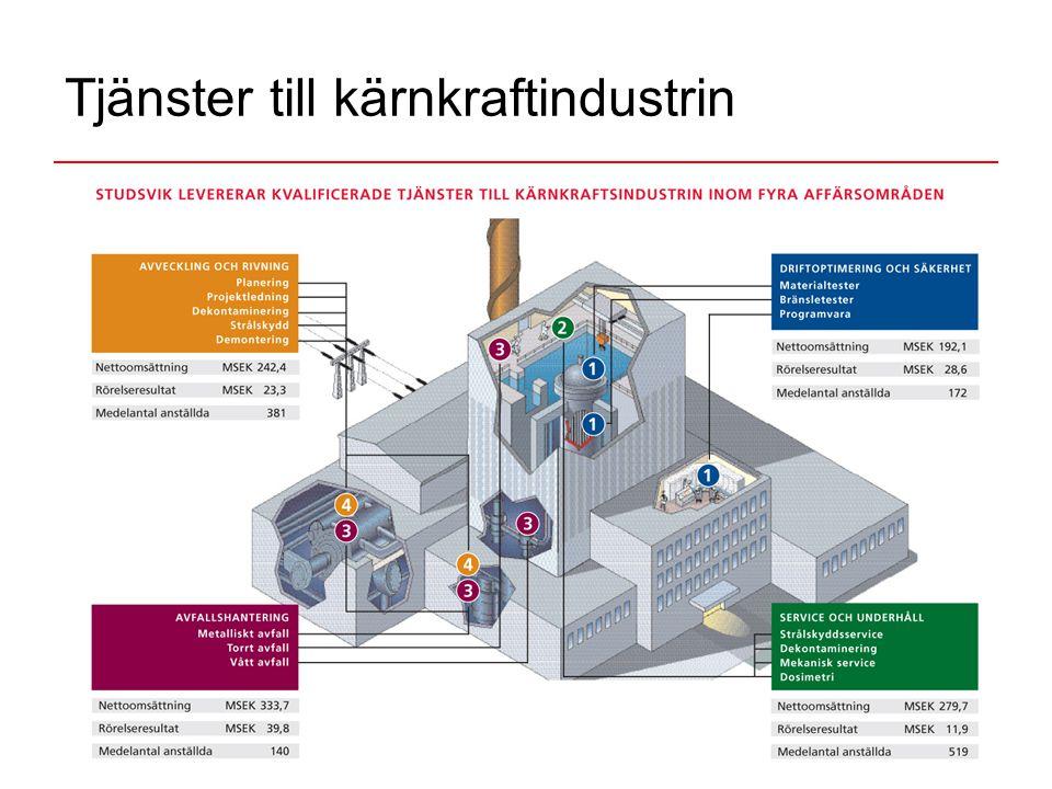 6 Tjänster till kärnkraftindustrin