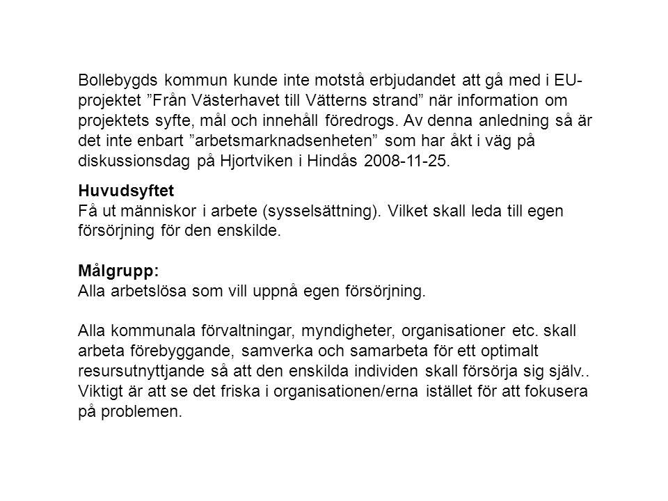 """Bollebygds kommun kunde inte motstå erbjudandet att gå med i EU- projektet """"Från Västerhavet till Vätterns strand"""" när information om projektets syfte"""