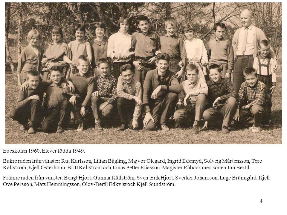 4 Edeskolan 1960. Elever födda 1949. Bakre raden från vänster: Rut Karlsson, Lilian Bågling, Majvor Olegard, Ingrid Edenryd, Solveig Mårtensson, Tore