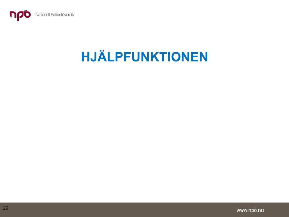 www.npö.nu HJÄLPFUNKTIONEN 29