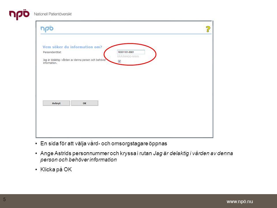 www.npö.nu •För att göra urval på tidslinjen, klicka först på Avmarkera allt 26