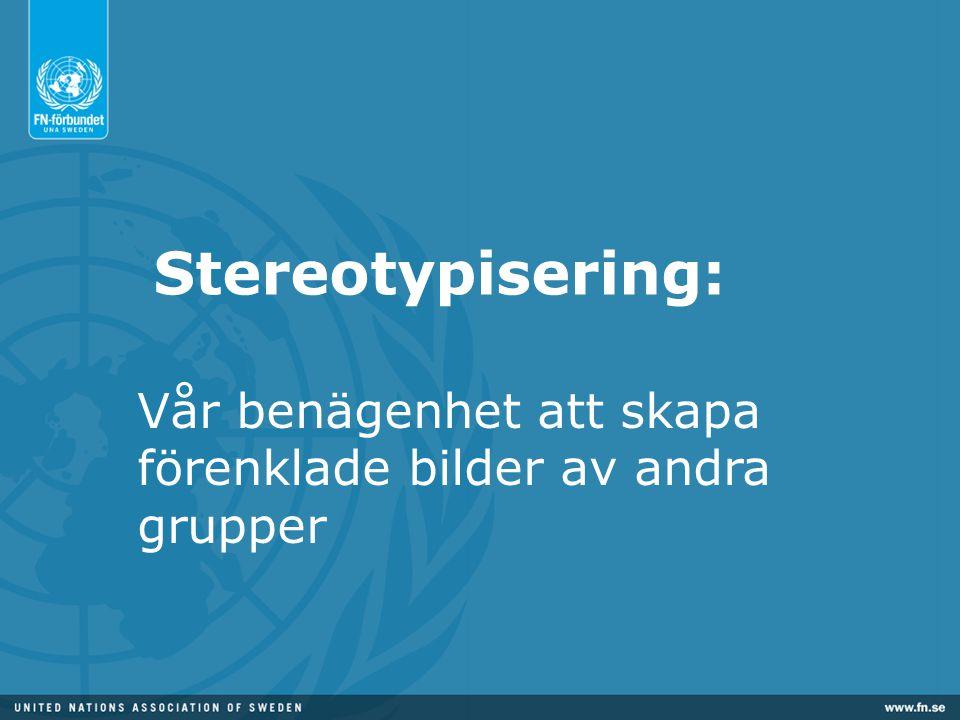 Stereotypisering: Vår benägenhet att skapa förenklade bilder av andra grupper