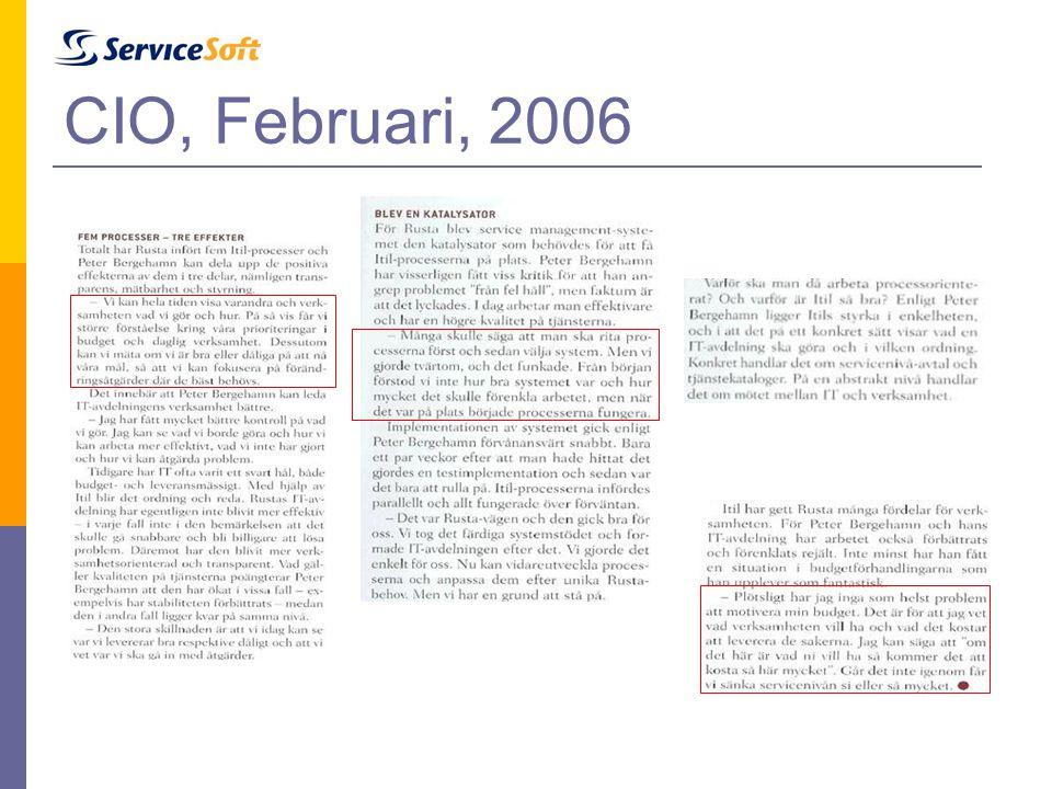 CIO, Februari, 2006