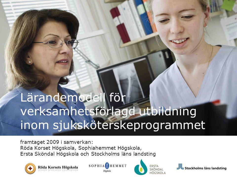 Lärandemodell för verksamhetsförlagd utbildning inom sjuksköterskeprogrammet framtaget 2009 i samverkan: Röda Korset Högskola, Sophiahemmet Högskola,