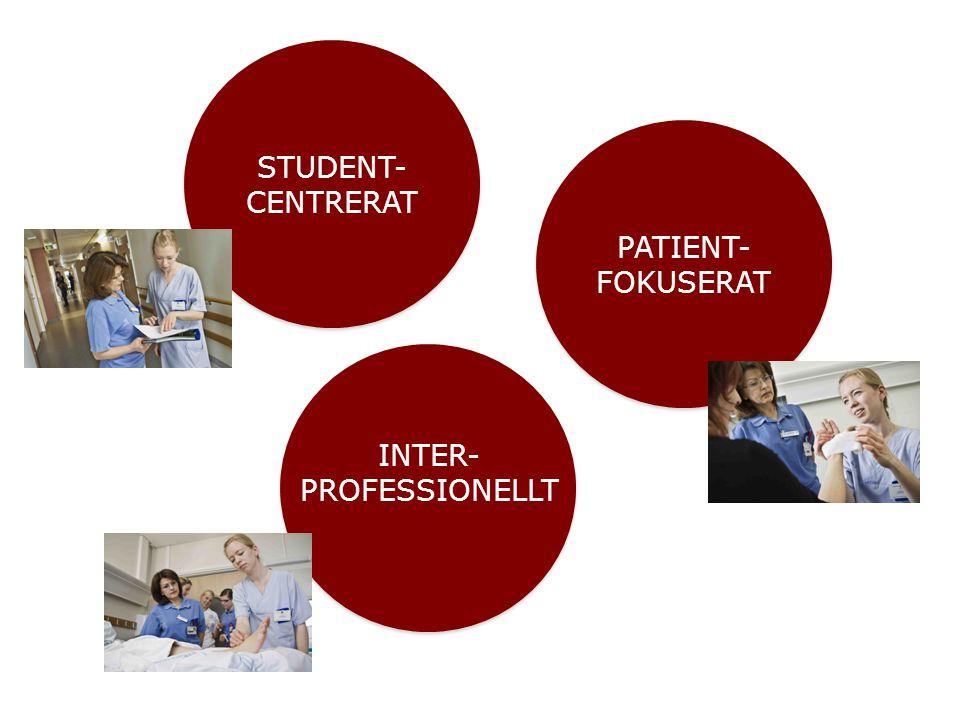 PATIENT- FOKUSERAT STUDENT- CENTRERAT INTER- PROFESSIONELLT