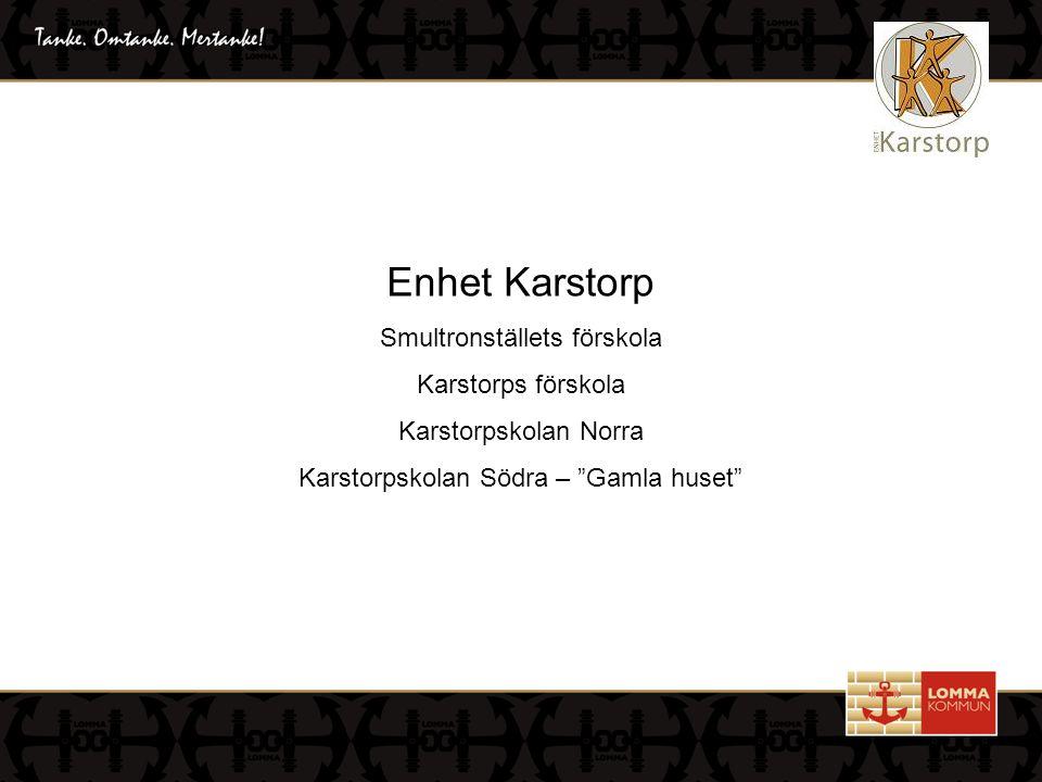 """Enhet Karstorp Smultronställets förskola Karstorps förskola Karstorpskolan Norra Karstorpskolan Södra – """"Gamla huset"""""""