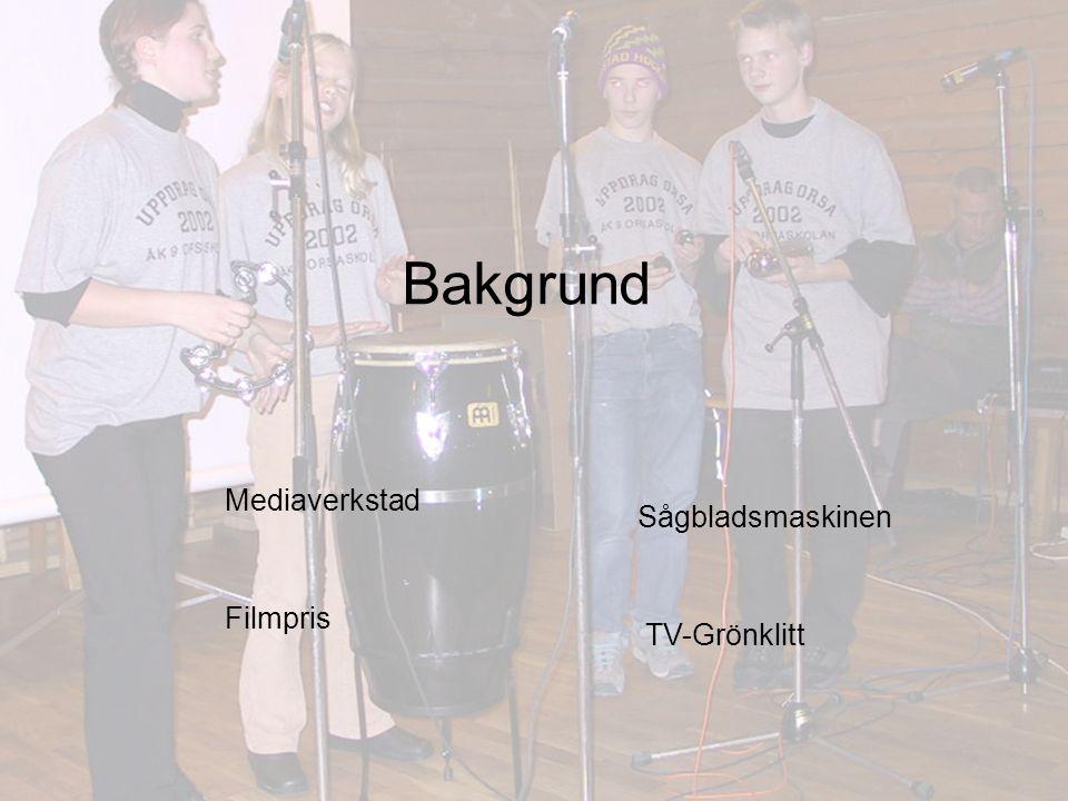 Bakgrund Mediaverkstad Sågbladsmaskinen Filmpris TV-Grönklitt
