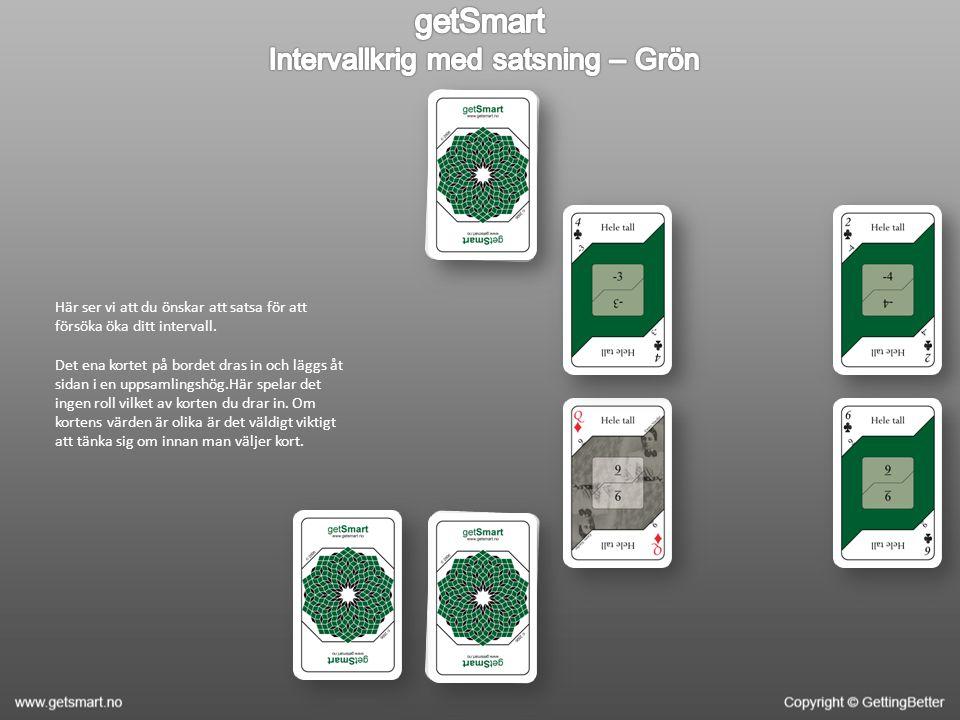 Här lägger du ut de två extra korten du är tvungen att offra till potten för att få byta ett kort.