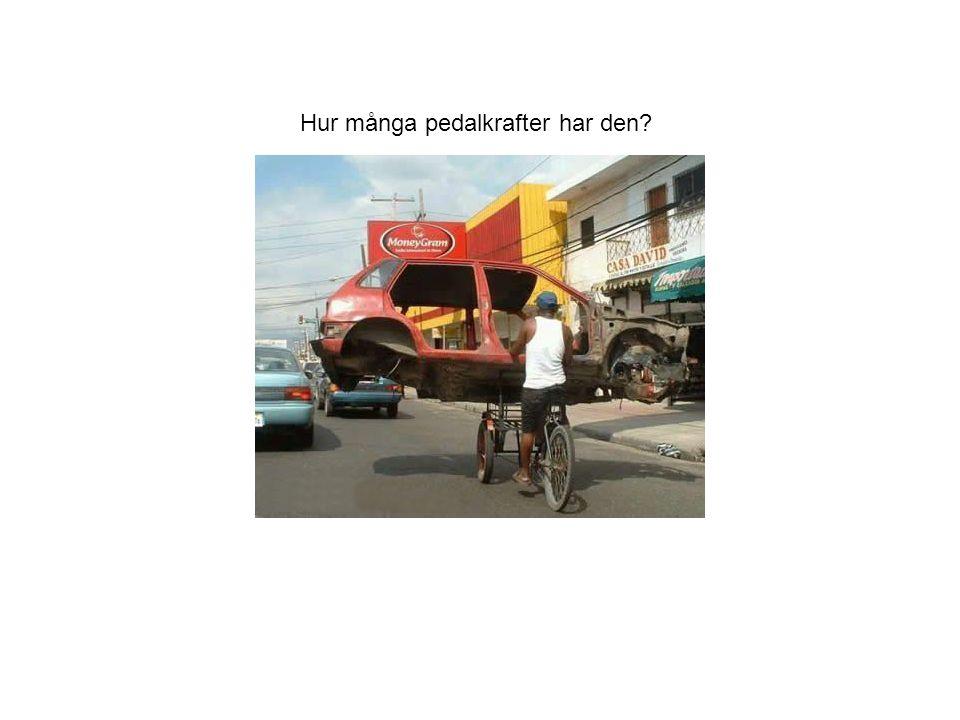 Hur många pedalkrafter har den