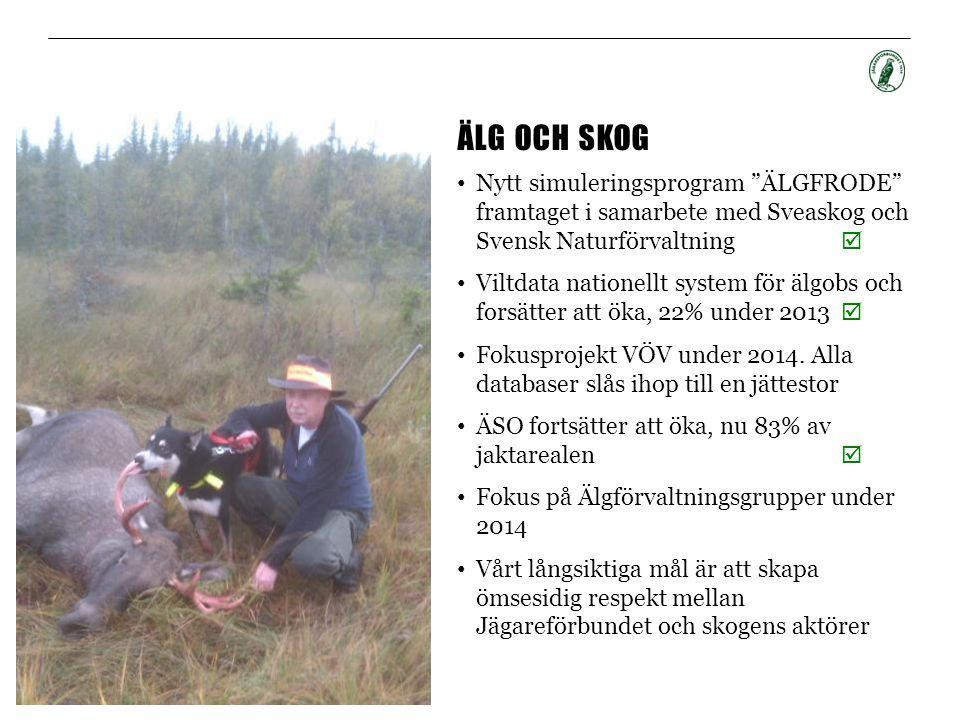 """ÄLG OCH SKOG • Nytt simuleringsprogram """"ÄLGFRODE"""" framtaget i samarbete med Sveaskog och Svensk Naturförvaltning  • Viltdata nationellt system för äl"""