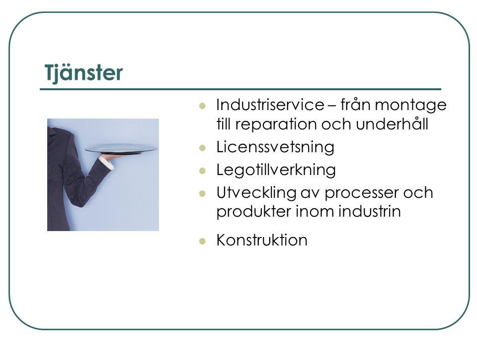 Produktion  Maskinkomponenter i rostfritt och aluminium  Byggnadssmide och stålstommar  Smide och rostfritt utifrån kundens önskemål och behov  Stål- och plåtkonstruktioner