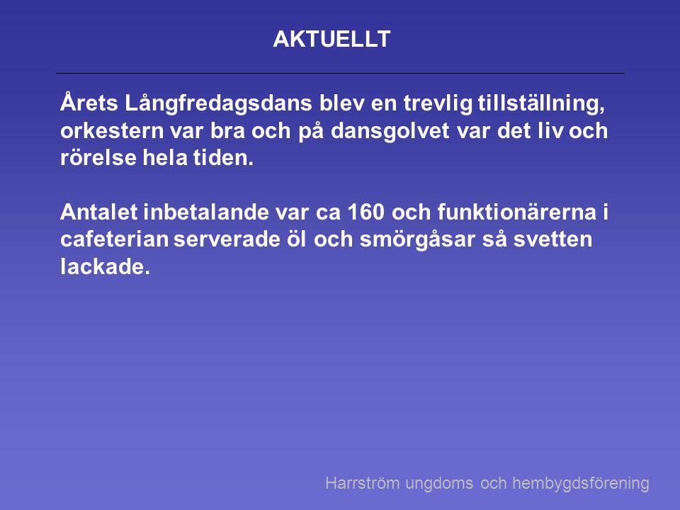 Vår- sommar- och höstprogram i Harrström 16.5 Esbo Kammarkör framför visor av Evert Taube vid paviljongen • 27.6 dans vid paviljongen.