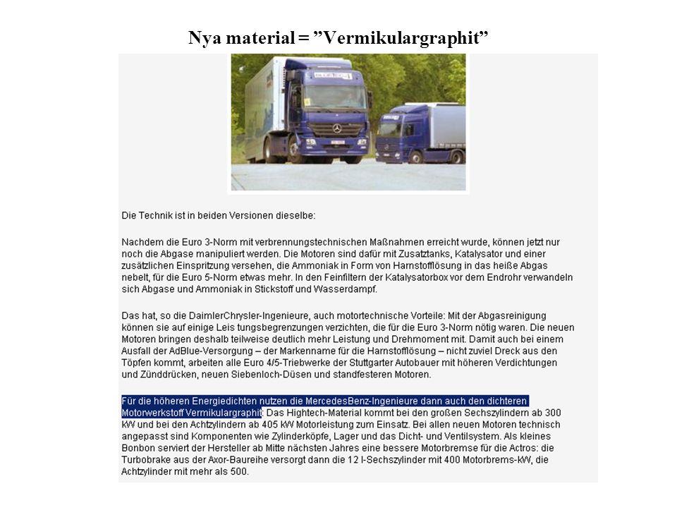 Vermicular graphite casting nämns på flera ställen hos DaimlerChrysler…