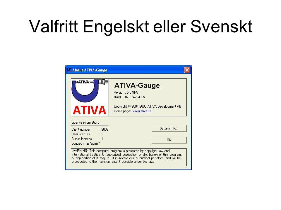 Valfritt Engelskt eller Svenskt
