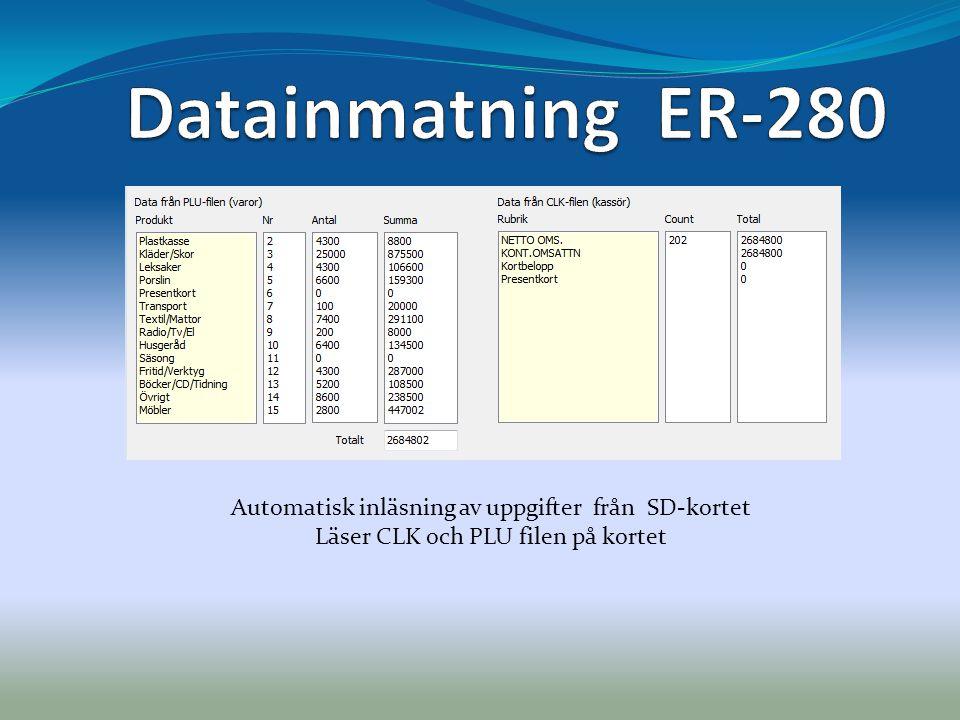 Statistik  En mängd förprogrammerade statistikuppgifter Möjlighet att skapa egna uppgifter med hjälp av SQL-programmering  Överföring av data till Excel för ytterligare rapporter