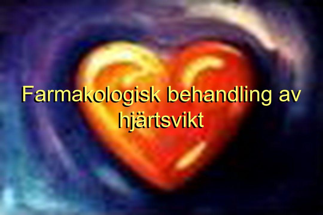 Farmakologi hjärtsvikt FB  -blockerare •Indirekta vasodilaterare –genom minskad reninfrisättning •Etablerade i behandling i lugnt skede –Ursprungligen kontraindicerade –Positiv effekt genom RAAS-hämning, antiarrytmiskt, positiv remodellering, energisparare?