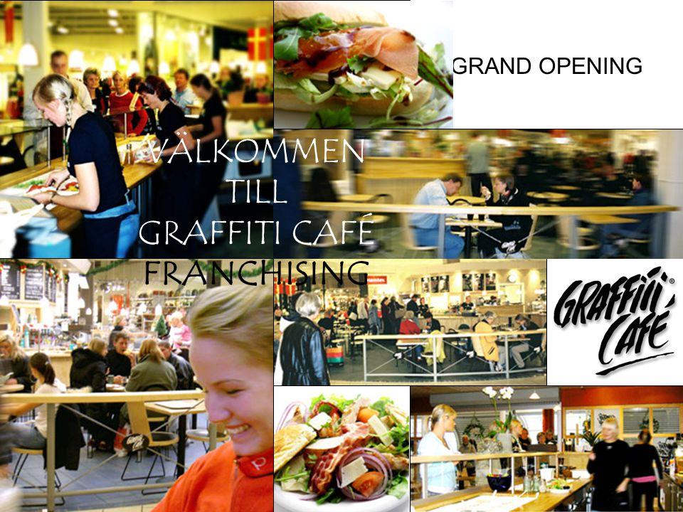 GRAND OPENING När Graffiti Café öppnar finns allt på plats. Produkter – Inredning – Utbildad personal – Massor av kunder………. Nu är framtiden här - Gra