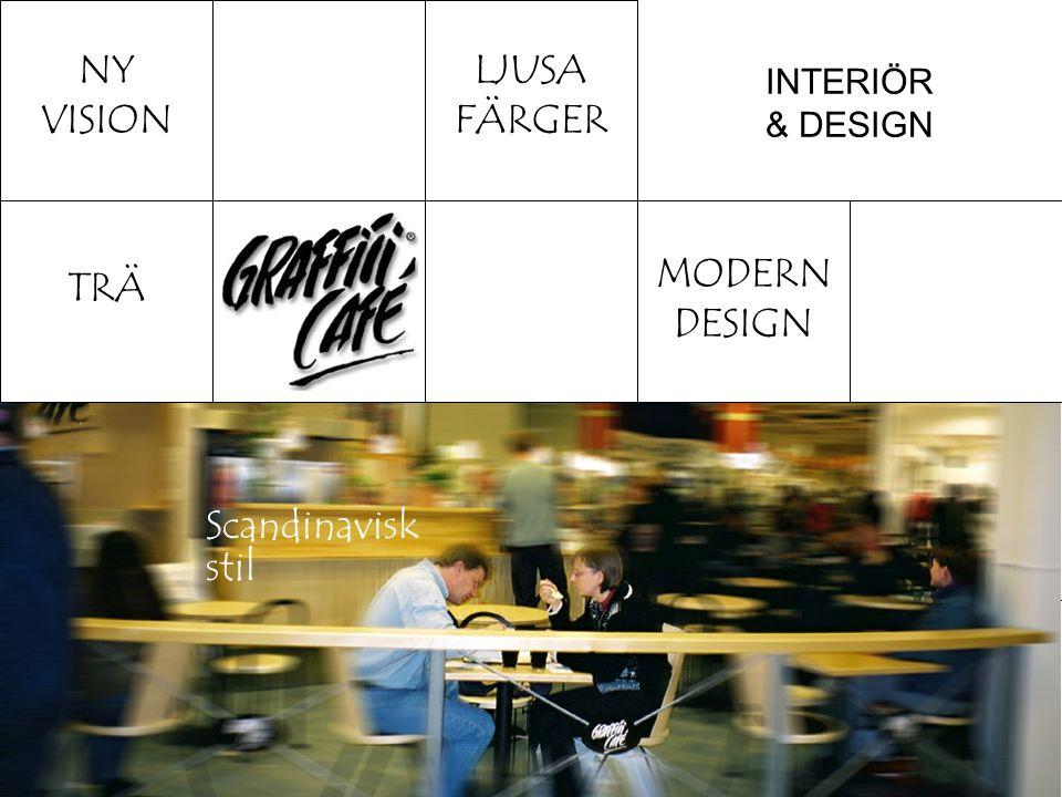 INTERIÖR & DESIGN MODERN DESIGN MENU SVARTA TAVLOR Inredningen anpassas efter lokalen inom ramen för Graffiti Café Design.