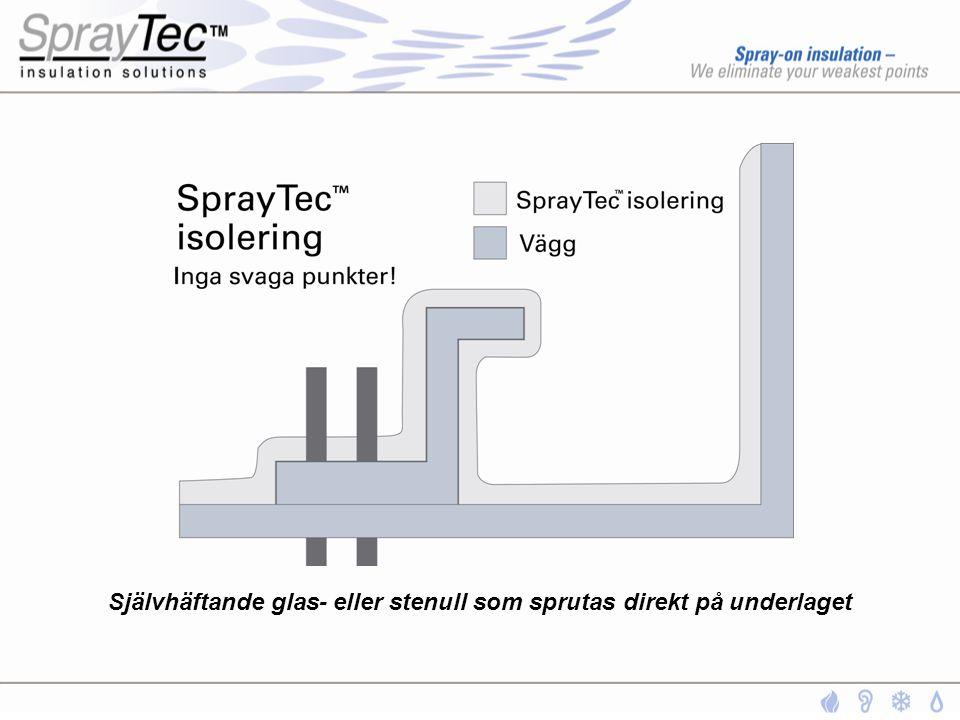 SprayTec G Kondensisolering SprayTec™ binder OCH släpper luftfuktighet både snabbare och fullständigare än konventionell isolering.