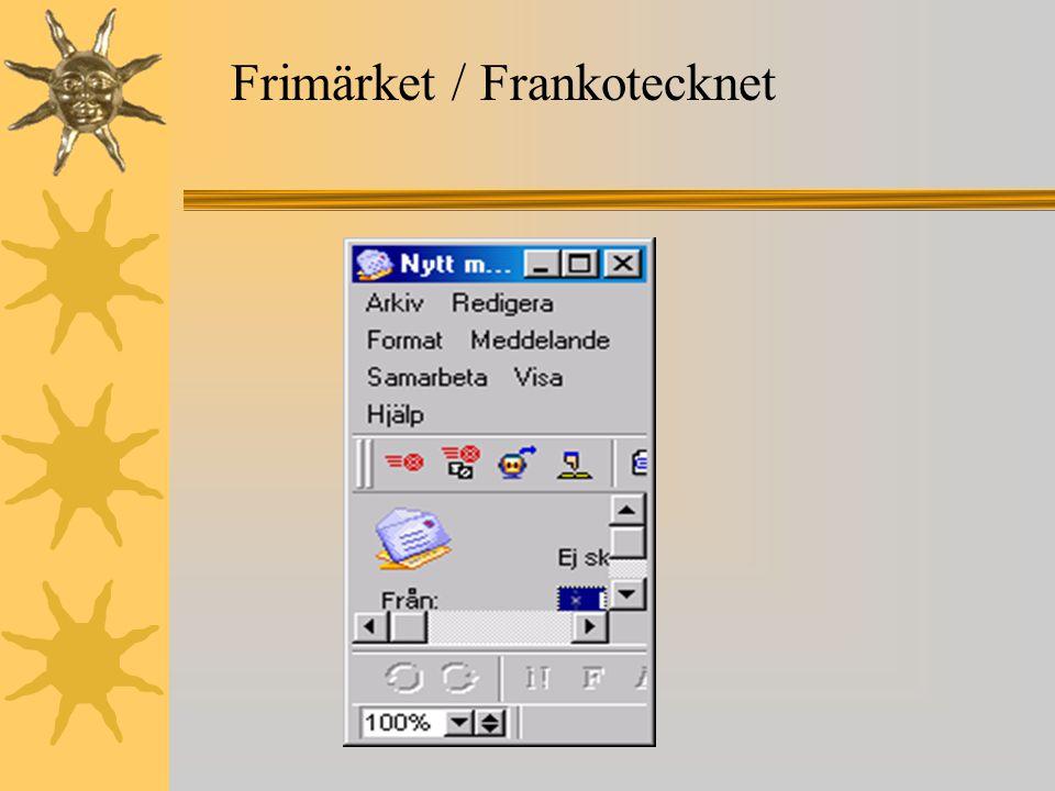 Frimärket / Frankotecknet