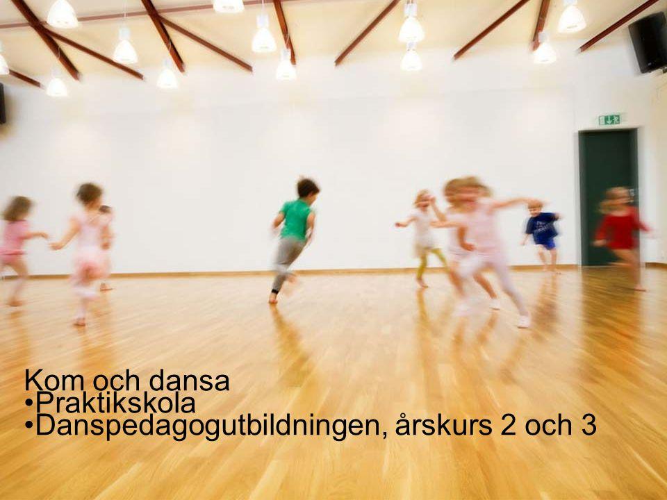 14 Kom och dansa •Praktikskola •Danspedagogutbildningen, årskurs 2 och 3