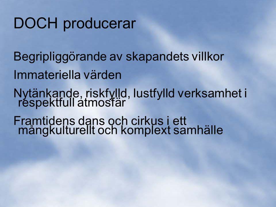 35 DOCH - en del av ett (nytt) konstnärligt universitet i Stockholm Kandidat-, master- och forskarutbildning inom alla våra utbildningsområden Väl utvecklad dialog med professionella konstnärer och pedagoger Stor kursverksamhet och många beställare av uppdragsutbildningar Forskarutbildning attraherar konstnärer från flera olika konstområden Starka internationella konstnärer undervisar och bedriver forskning vid DOCH DOCH är en av flera internationella plattformar för presentation och evaluering av konstnärlig forskning