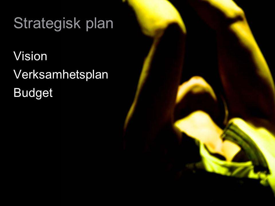 6 Strategisk plan Vision Verksamhetsplan Budget