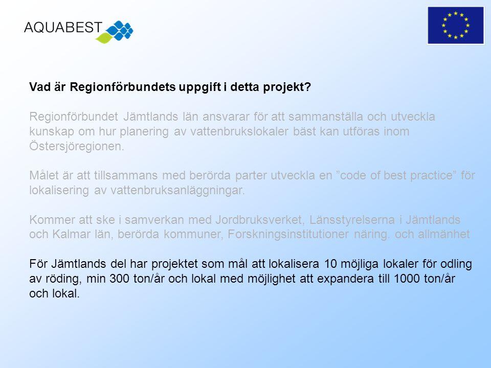Vad är Regionförbundets uppgift i detta projekt.