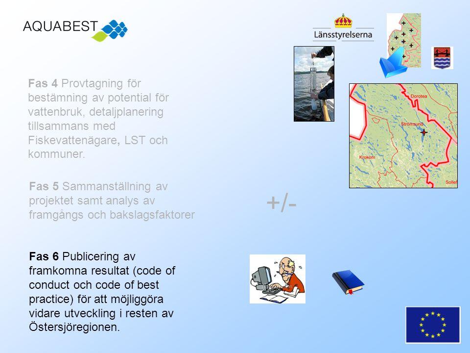 Fas 5 Sammanställning av projektet samt analys av framgångs och bakslagsfaktorer Fas 6 Publicering av framkomna resultat (code of conduct och code of best practice) för att möjliggöra vidare utveckling i resten av Östersjöregionen.