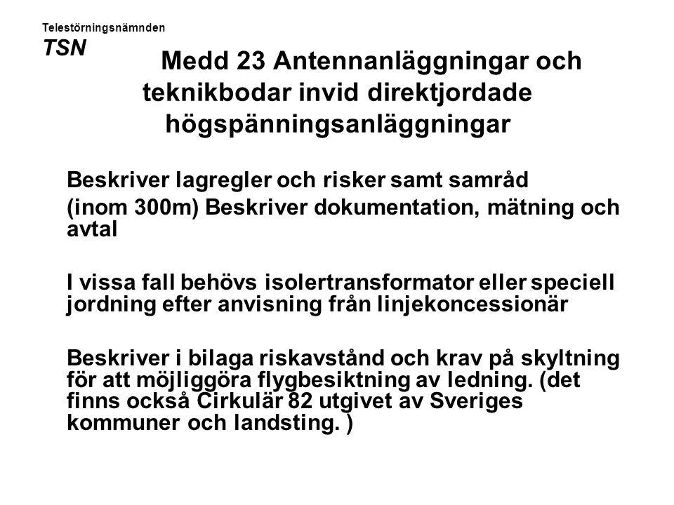Isolertransformatorinstallation enligt meddelande 22 Telestörningsnämnden TSN
