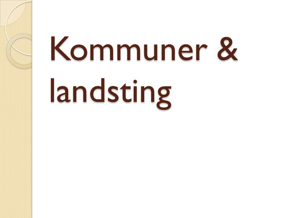 Kommuner & landsting