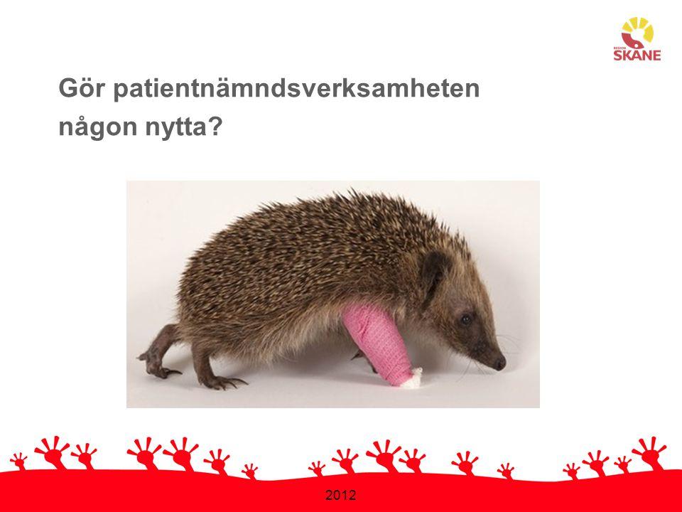 2012 Gör patientnämndsverksamheten någon nytta?