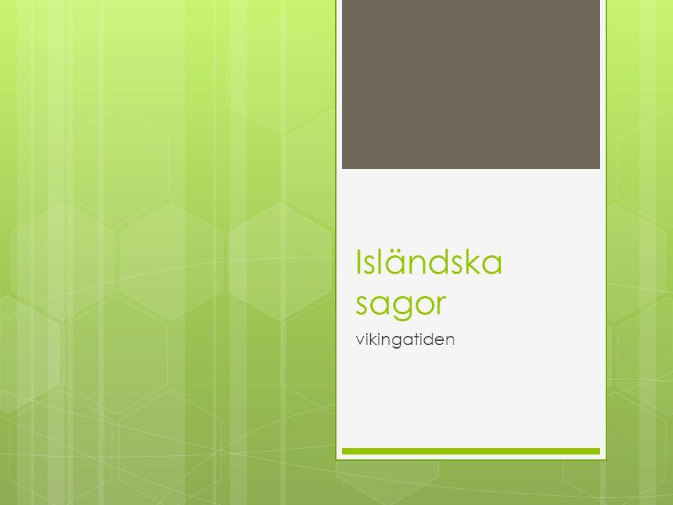 Isländska sagor vikingatiden