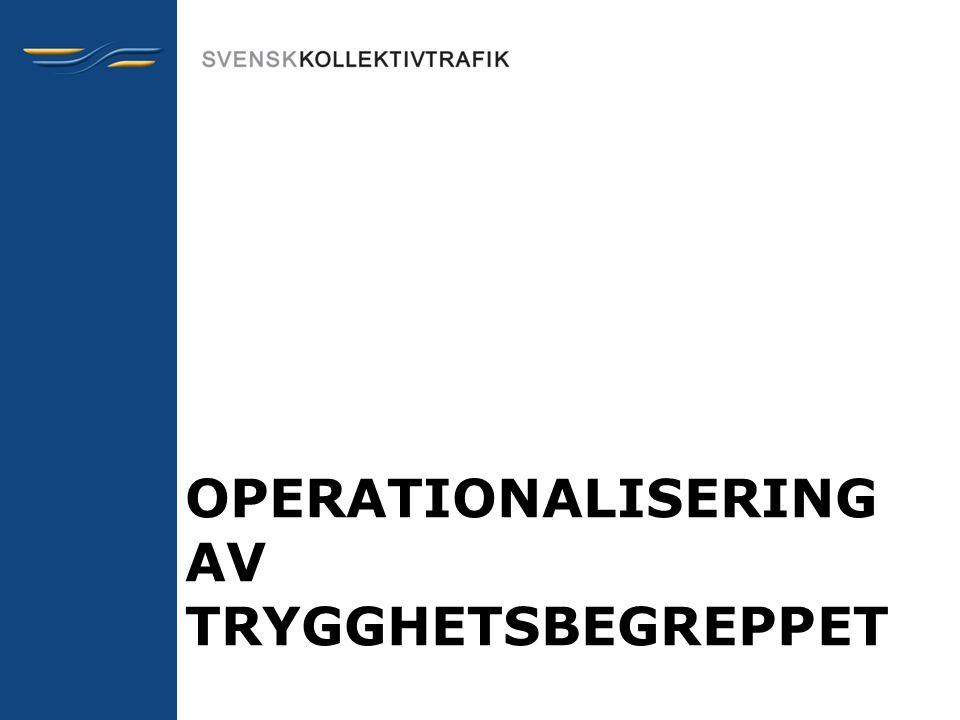 OPERATIONALISERING AV TRYGGHETSBEGREPPET