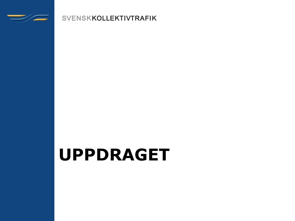 Offerundersökningar •Brå (NTU) –Den publicerade statistiken i Brå redovisar inte hur många personer som uppger att de drabbats av brott som inträffat i eller i närheten av kollektivtrafiken (detta redovisas inte separat).