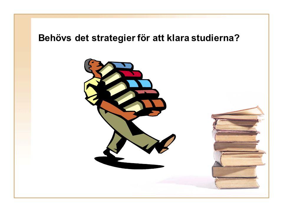 Behövs det strategier för att klara studierna?