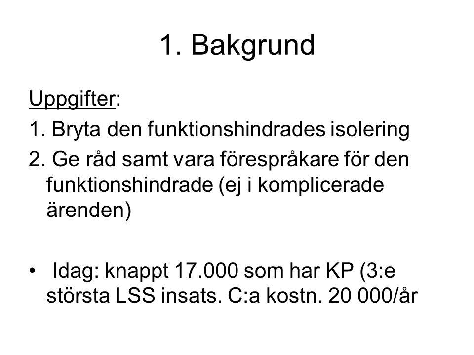 2.Projektet 1. Beskriva KP enl LSS. Vilka är de.