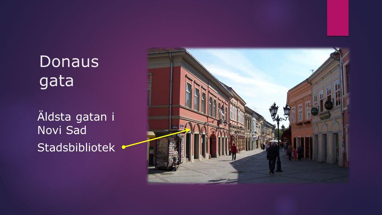 Donaus gata Äldsta gatan i Novi Sad Stadsbibliotek