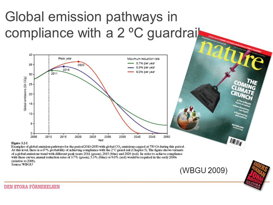 Global emission pathways in compliance with a 2 ºC guardrail (WBGU 2009)