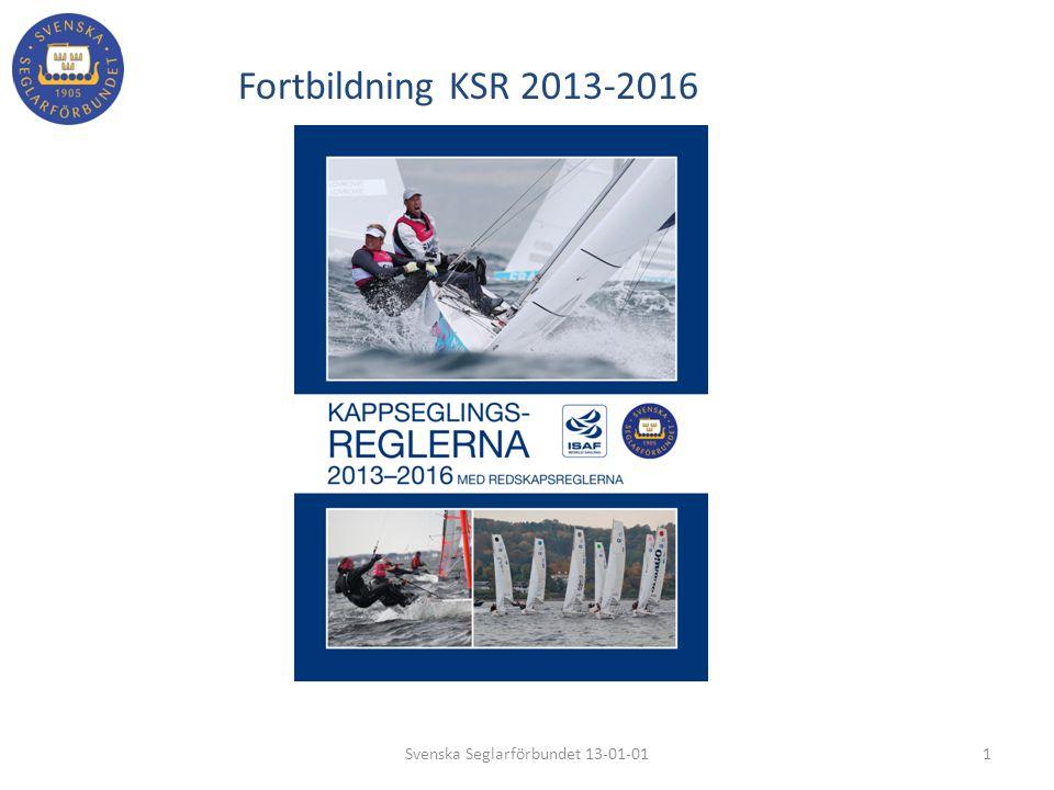 Fortbildning KSR 2013-2016 1Svenska Seglarförbundet 13-01-01 Front bild på regelboken