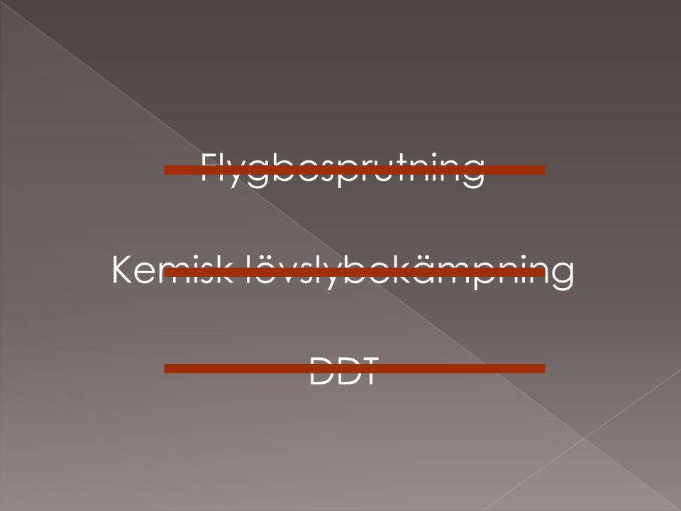 Flygbesprutning Kemisk lövslybekämpning DDT