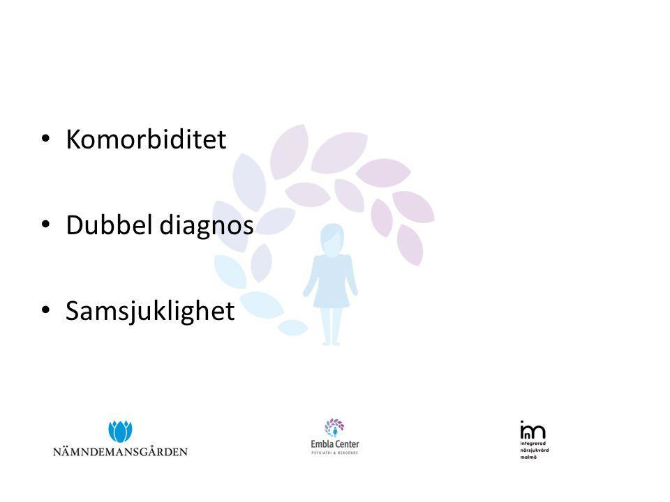 • Komorbiditet • Dubbel diagnos • Samsjuklighet