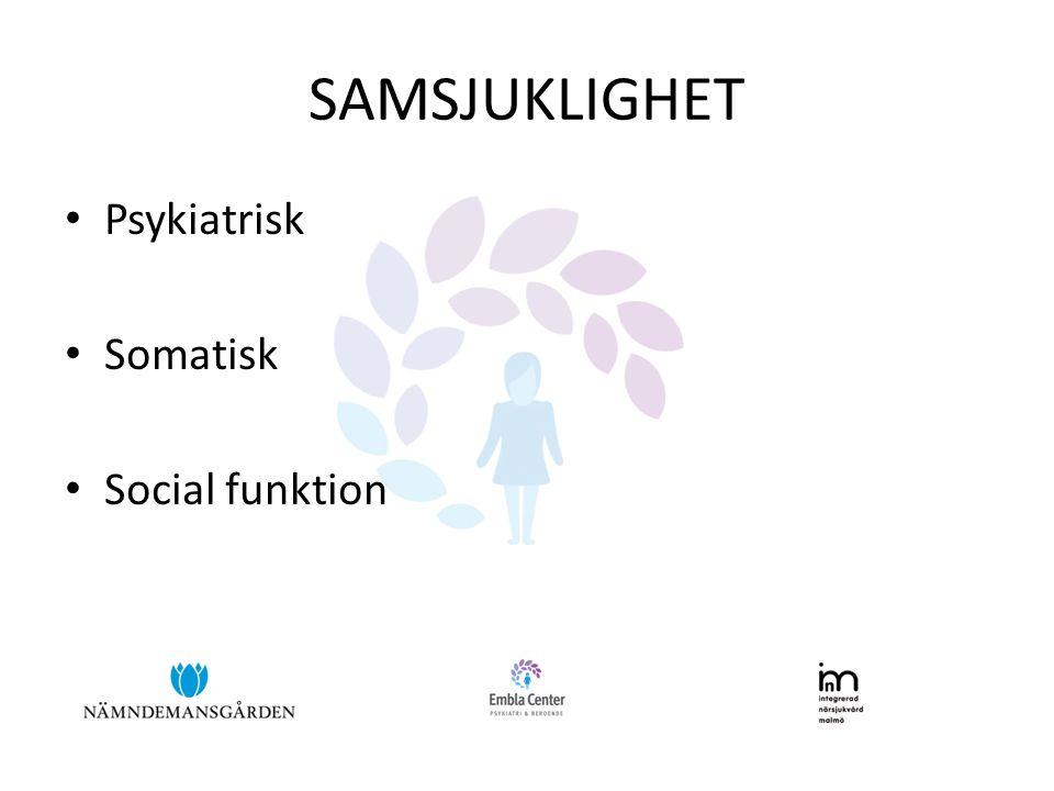 SAMSJUKLIGHET • Psykiatrisk • Somatisk • Social funktion