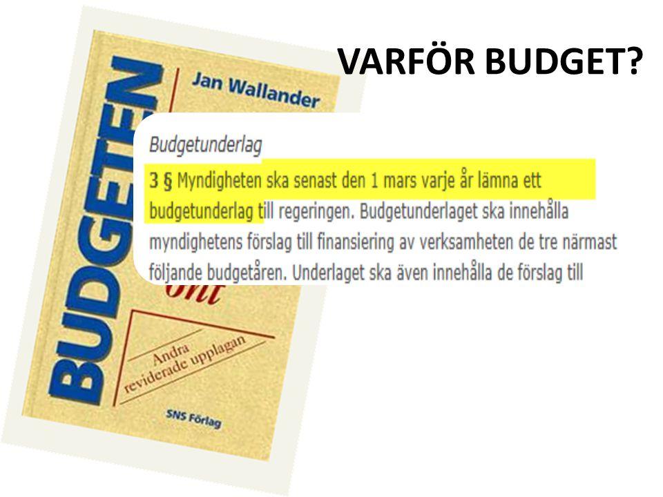 Budgetering av intäkter – Bidrag Intäktsbegreppet Exempel Bidrag på 3 mkr kommer att erhållas från Vetenskapsrådet.