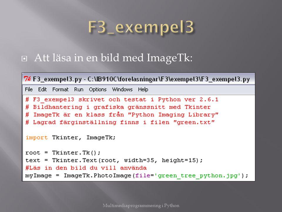  Att läsa in en bild med ImageTk: Multimediaprogrammering i Python