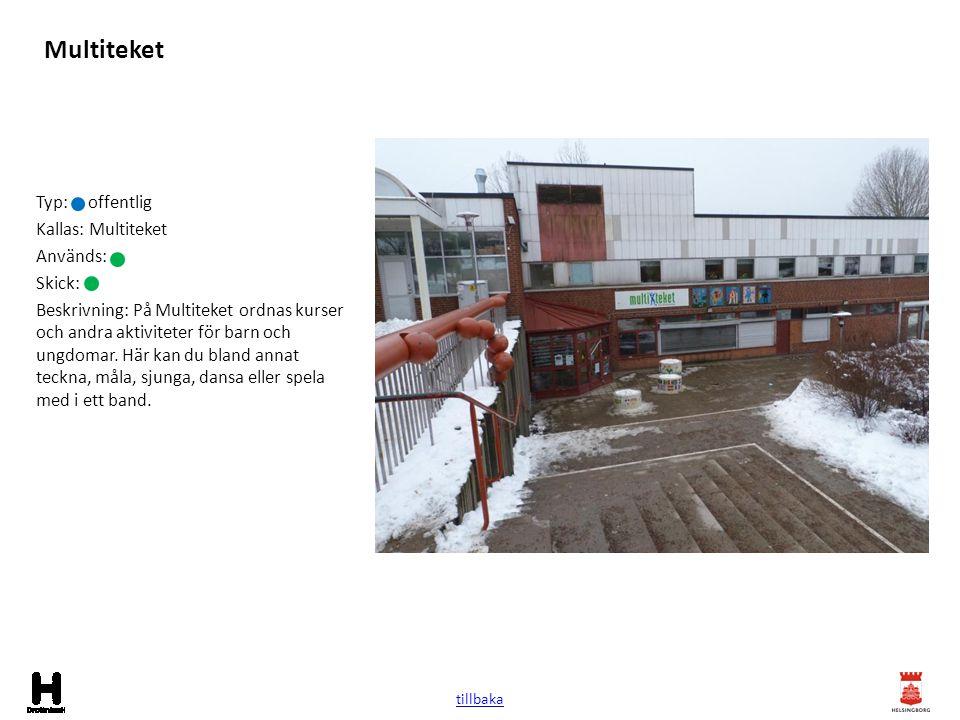 Lekplats grönområde Typ: lekplats Kallas: Används: Skick: Beskrivning: Lekplats vid tennisplanen mellan Rökullagatan och Blåkullagatan.