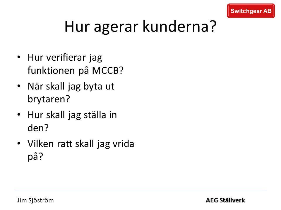 Jim SjöströmAEG StällverkAEG Ställverk Hur agerar kunderna.