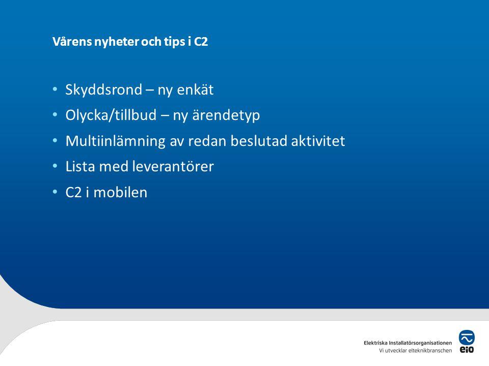 EIO Q dagar Hösten 2014 • 8 – 9 oktober Stockholm • 14 – 15 oktober Göteborg